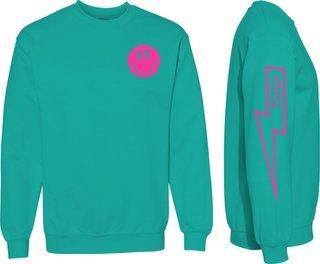Delta Zeta Comfort Colors Lightning Crew Sweatshirt