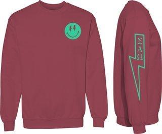 Sigma Alpha Omega Comfort Colors Lightning Crew Sweatshirt