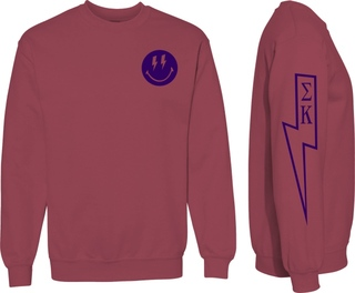 Sigma Kappa Comfort Colors Lightning Crew Sweatshirt