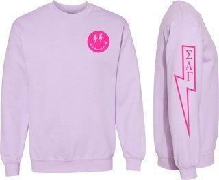 Sigma Lambda Gamma Comfort Colors Lightning Crew Sweatshirt