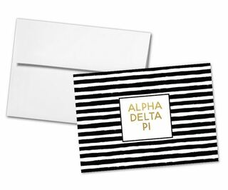 Alpha Delta Pi Striped Notecards(6)