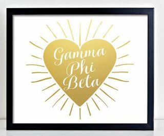 Gamma Phi Beta Heart Burst Foil Print