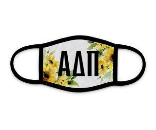 Alpha Delta Pi Sunflower Face Mask