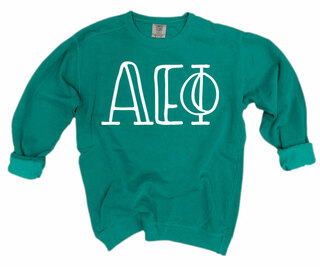 Alpha Epsilon Phi Comfort Colors Greek Crewneck Sweatshirt