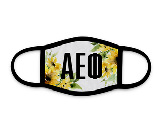 Alpha Epsilon Phi Sunflower Face Mask