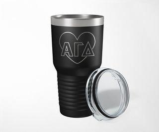 Alpha Gamma Delta Heart Tumbler