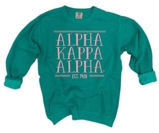 Alpha Kappa Alpha Comfort Colors Custom Crewneck Sweatshirt