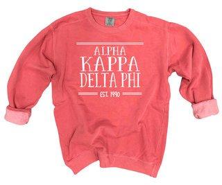 alpha Kappa Delta Phi Comfort Colors Custom Crewneck Sweatshirt