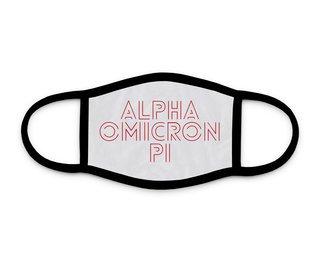 Alpha Omicron Pi Modera Face Mask