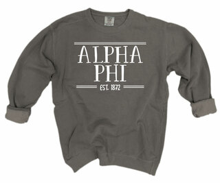 Alpha Phi Comfort Colors Custom Crewneck Sweatshirt