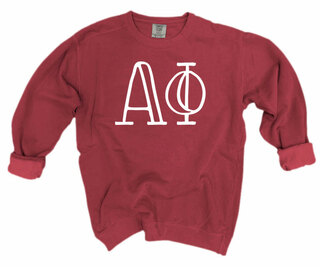 Alpha Phi Comfort Colors Greek Crewneck Sweatshirt