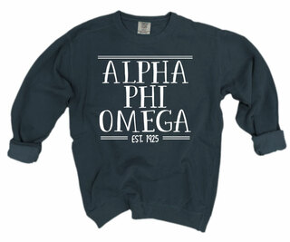 Alpha Phi Omega Comfort Colors Custom Crewneck Sweatshirt