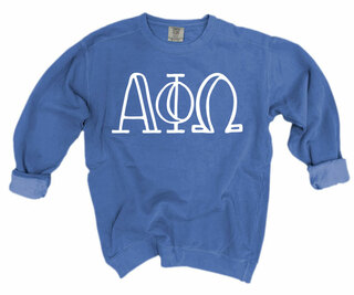 Alpha Phi Omega Comfort Colors Greek Crewneck Sweatshirt