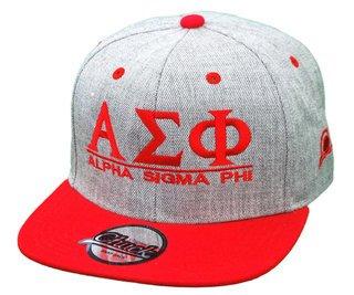 Alpha Sigma Phi Flatbill Snapback Hats Original