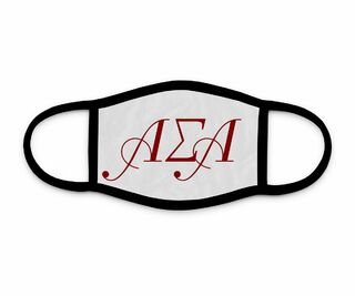 Alpha Sigma Alpha Letters Face Mask