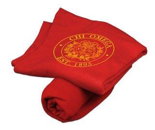 Chi Omega Sweatshirt Blanket