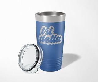 Delta Delta Delta Retro Tumbler