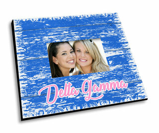 Delta Gamma Painted Fence Picture Frame