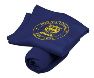 Delta Upsilon Sweatshirt Blanket
