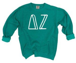 Delta Zeta Comfort Colors Greek Crewneck Sweatshirt