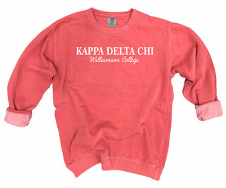 Kappa Delta Chi Script Comfort Colors Greek Crewneck Sweatshirt