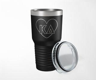 Kappa Delta Heart Tumbler
