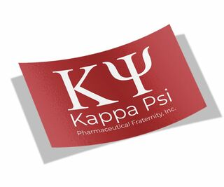 Kappa Psi Flag Decal Sticker