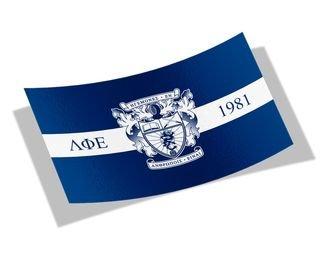 Lambda Phi Epsilon Flag Decal Sticker