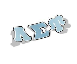Lambda Sigma Upsilon Big Greek Letter Window Sticker Decal