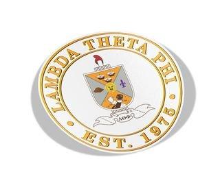 Lambda Theta Phi Circle Crest - Shield Decal