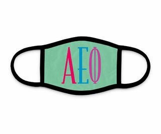 Alpha Epsilon Phi Bright Letters Face Mask