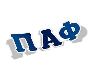 Pi Alpha Phi Big Greek Letter Window Sticker Decal