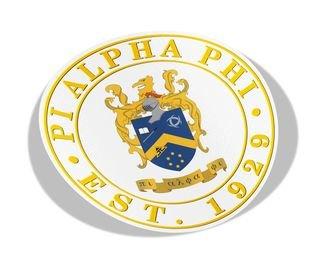 Pi Alpha Phi Circle Crest - Shield Decal