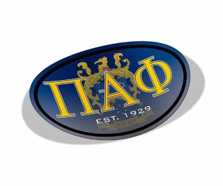 Pi Alpha Phi Color Oval Decal
