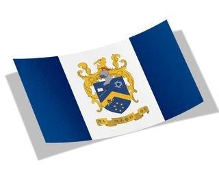 Pi Alpha Phi Flag Decal Sticker