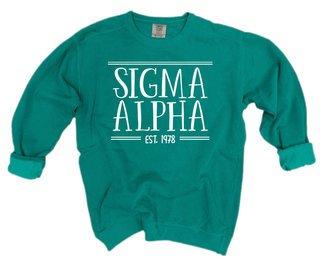 Sigma Alpha Comfort Colors Custom Crewneck Sweatshirt