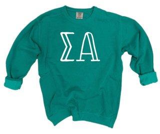 Sigma Alpha Comfort Colors Greek Crewneck Sweatshirt