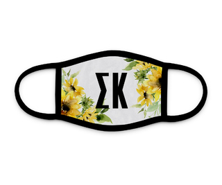 Sigma Kappa Sunflower Face Mask