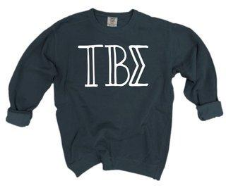 Tau Beta Sigma Comfort Colors Greek Crewneck Sweatshirt