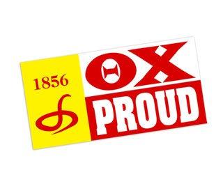 Theta Chi Proud Bumper Sticker - CLOSEOUT