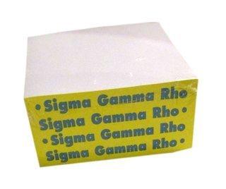 Sigma Gamma Rho Memo Paper Cube