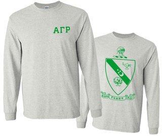 Alpha Gamma Rho World Famous Crest - Shield Long Sleeve T-Shirt- $19.95!