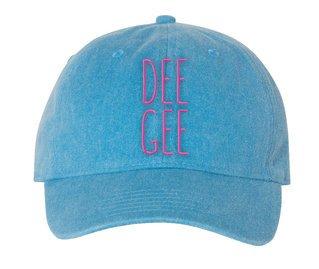 Delta Gamma Mod Comfort Colors Pigment Dyed Baseball Cap