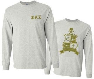 Phi Kappa Sigma World Famous Crest - Shield Long Sleeve T-Shirt- $19.95!