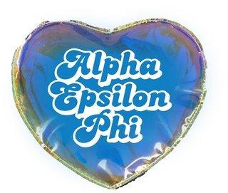 Alpha Epsilon Phi Heart Shaped Makeup Bag