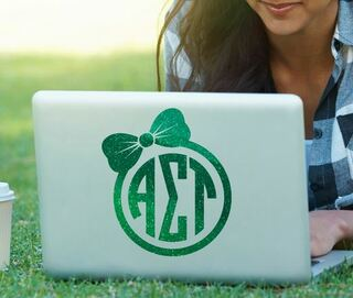 Alpha Sigma Tau Bow Decal