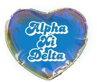 Alpha Xi Delta Heart Shaped Makeup Bag