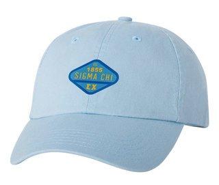 DISCOUNT-Sigma Chi Woven Emblem Hat