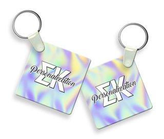 Sigma Kappa Holla Square Keychain