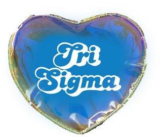 Sigma Sigma Sigma Heart Shaped Makeup Bag